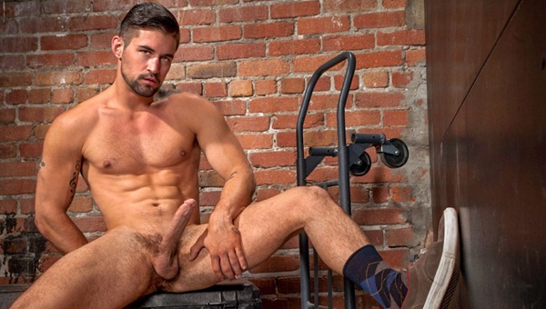 Benjamin Godfre stroking his extra large tool