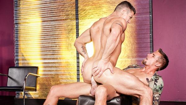 super hot gay guy rides a hard cock